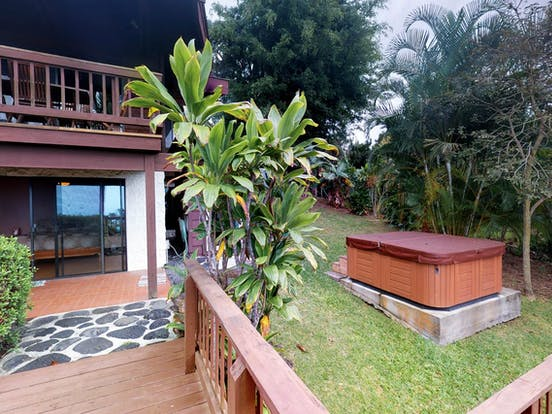 View of private hot tub located in Waikoloa, HI vacation rental