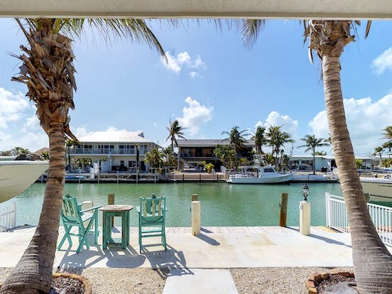 Waterfront vacation home with dock access located in Key Colony Beach, FL