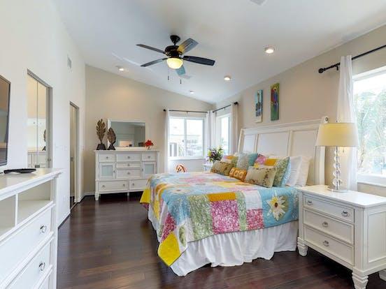 King bedroom inside Key Colony Beach, FL vacation rental