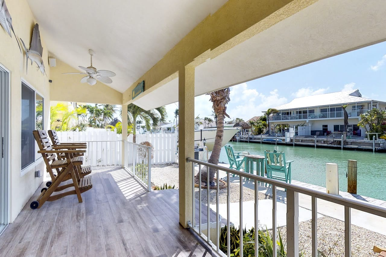 Canal view from this Key Colony Beach, Florida vacation rental