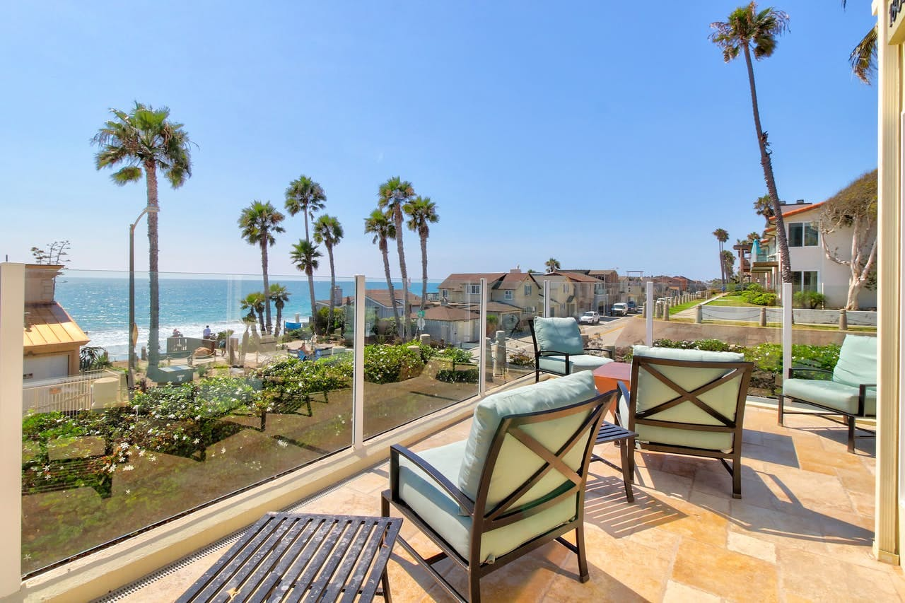 Southern California beach view from Oceanside vacation rental