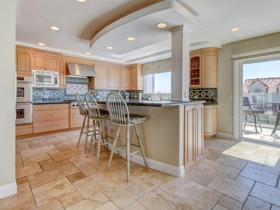 Spacious kitchen for feeding up to 12 people in this Oceanside, CA vacation rental