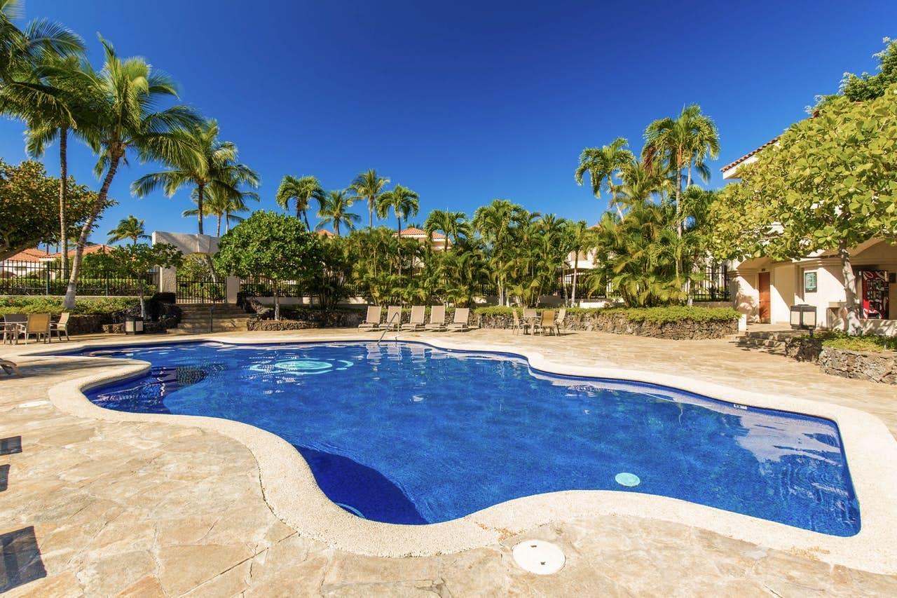 Shared outdoor pool at Shores at Waikoloa resort in Waikoloa, Hawaii
