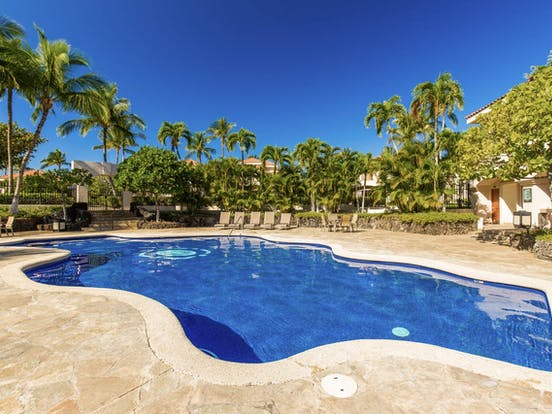Shared outdoor pool at Shores at Waikoloa resort in Waikoloa, Hawaii