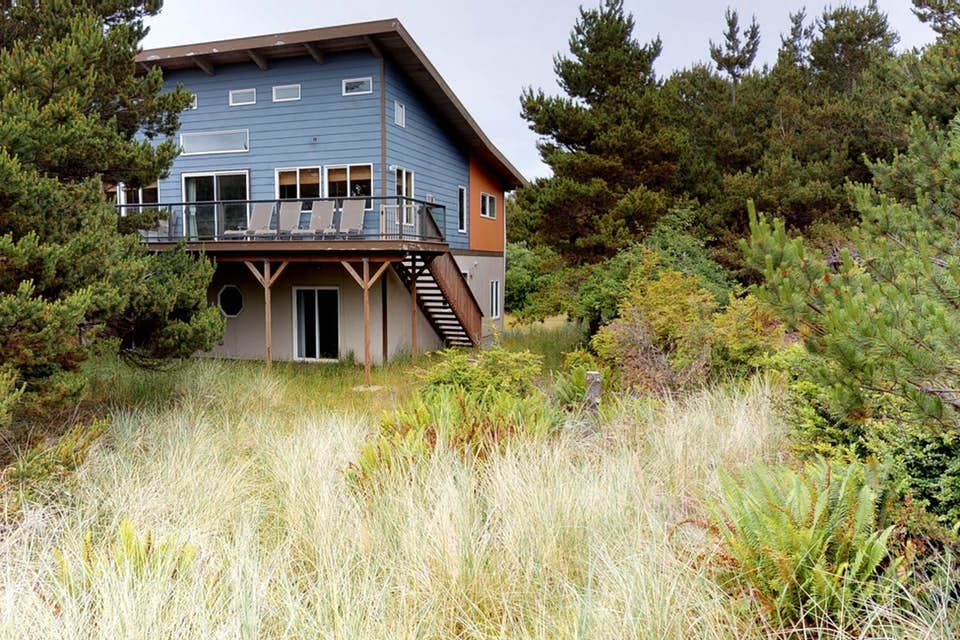 a modern beach cottage tucked in the trees in westport, wa