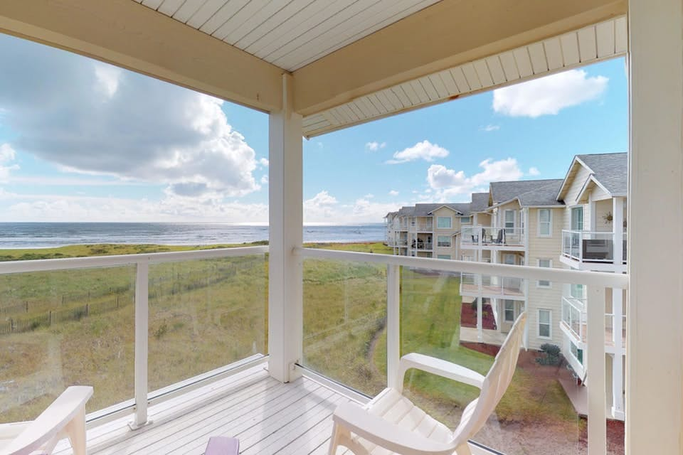 an ocean view from the third story of a westport vacation home