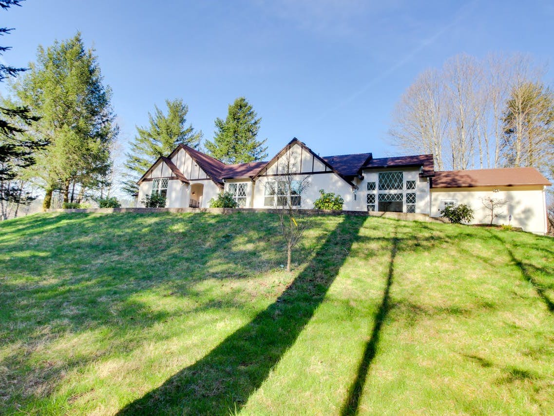 Washougal, WA luxury home with old-world charm and four acres of gardens