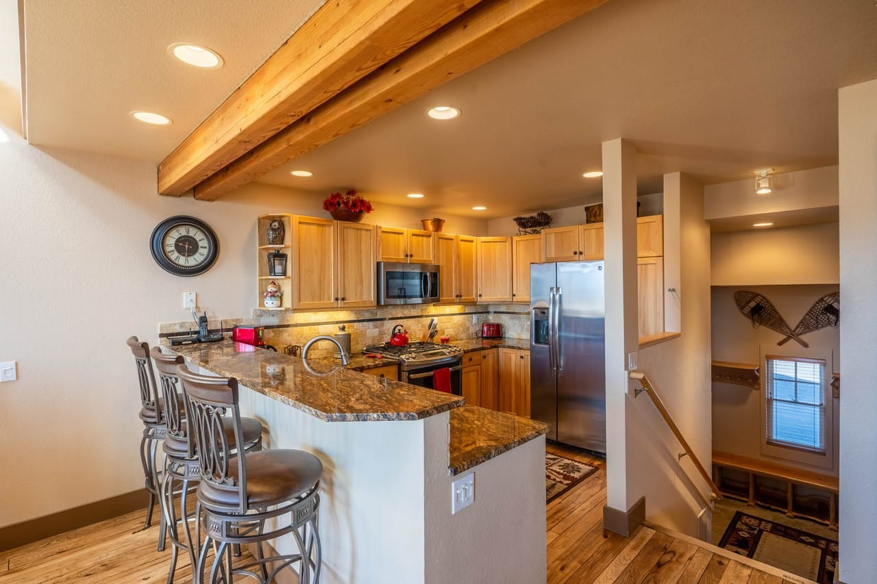 Full kitchen of Big Sky, MT vacation rental