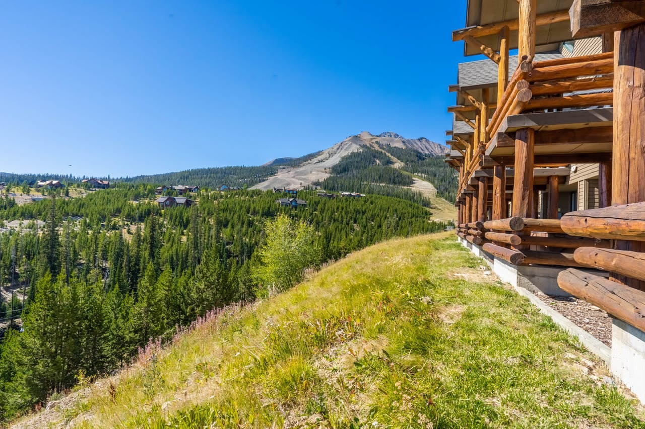 Mountain view from a Vacasa Big Sky, MT vacation rental