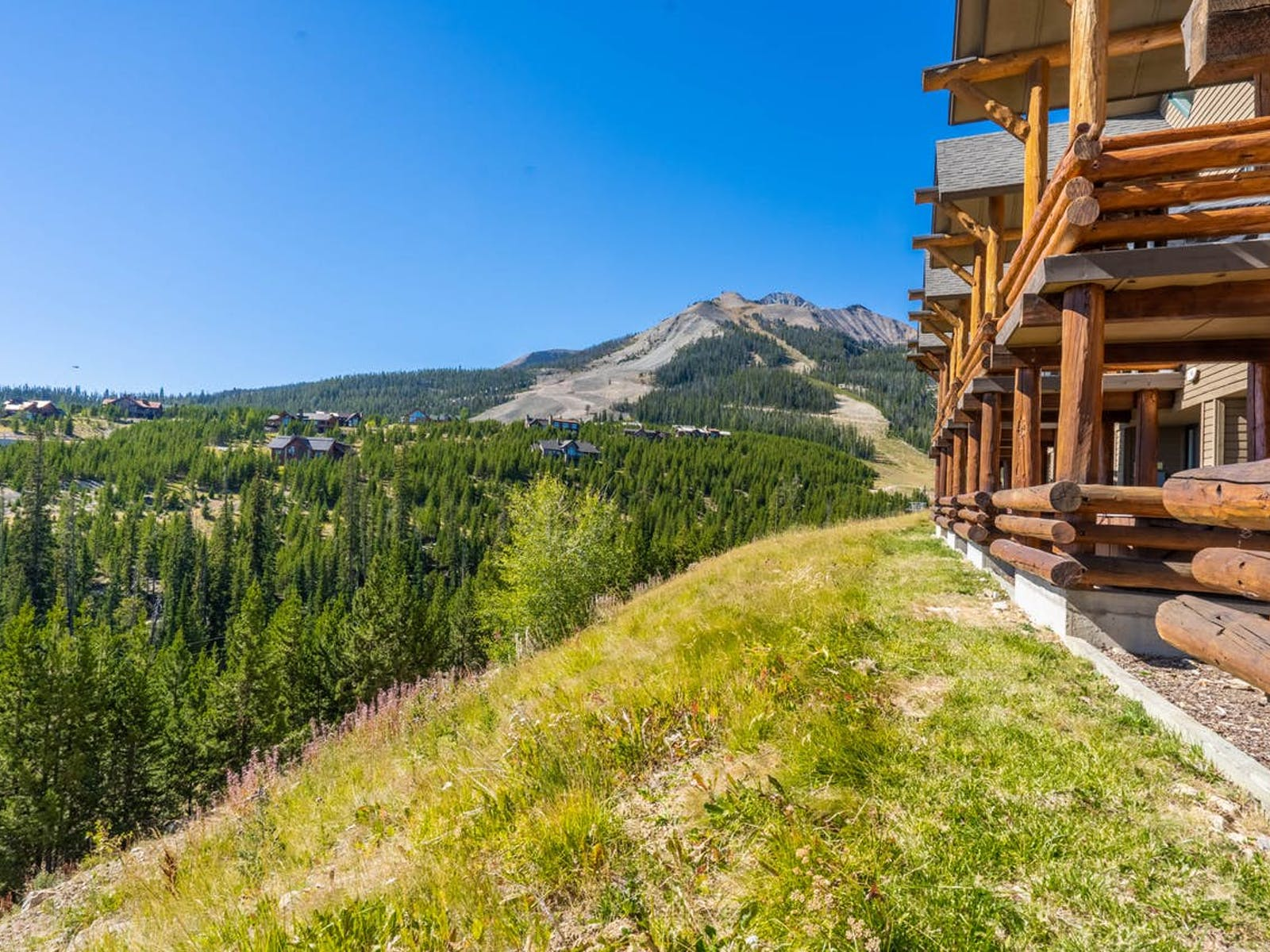 Mountain view from a Big Sky, MT vacation rental