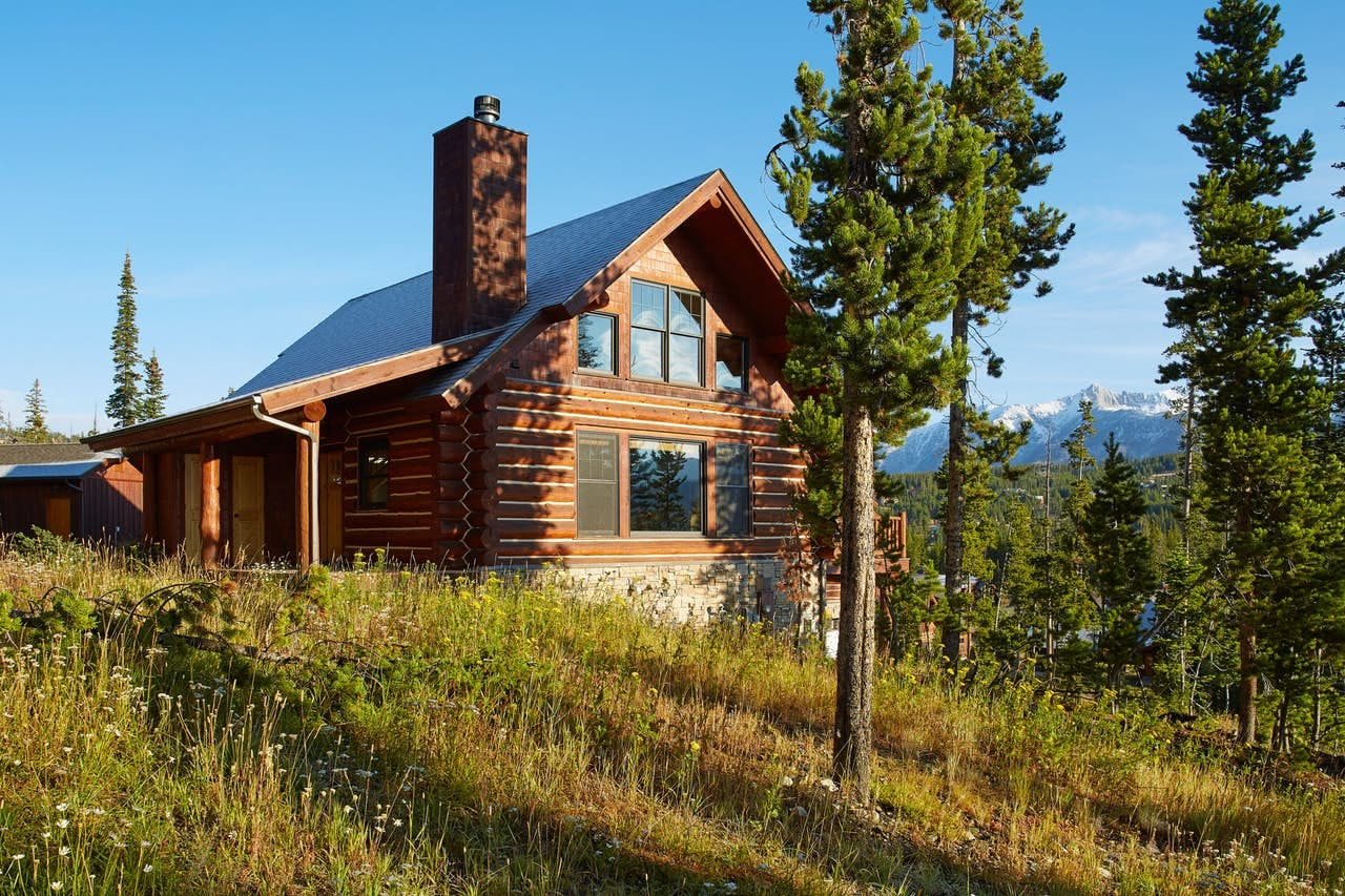 Three story mountain cabin located in Big Sky, MT