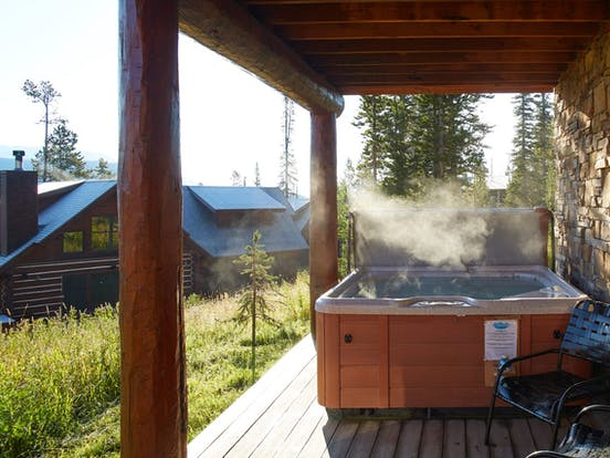 Big Sky, MT vacation cabin rental with private hot tub